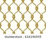 rope seamless tied fishnet... | Shutterstock .eps vector #616146545