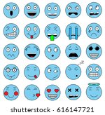 set of emotions. set of emoji... | Shutterstock .eps vector #616147721