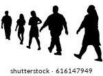 full length of silhouette... | Shutterstock .eps vector #616147949