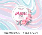 mother's day sale background... | Shutterstock .eps vector #616147964