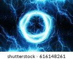 circular lightning discharge ...   Shutterstock . vector #616148261