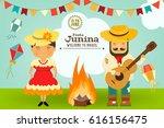 festa junina   brazil june... | Shutterstock .eps vector #616156475