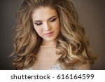 portrait of a young beautiful...   Shutterstock . vector #616164599