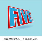 five number text for title or... | Shutterstock . vector #616181981