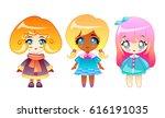 set of illustrations of little...   Shutterstock .eps vector #616191035