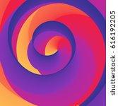 vector illustration swirly... | Shutterstock .eps vector #616192205