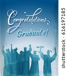 congratulations graduate text... | Shutterstock .eps vector #616197185