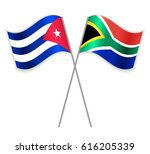 cuban and south african crossed ... | Shutterstock .eps vector #616205339