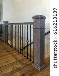 modern stair railing | Shutterstock . vector #616213139