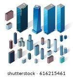 vector isometric buildings set. | Shutterstock .eps vector #616215461