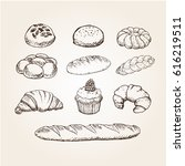 Hand Drawn Bakery Breads ...