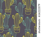 vector seamless pattern with... | Shutterstock .eps vector #616222379