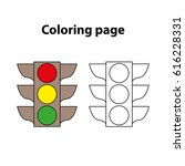 traffic light    painting page ...   Shutterstock .eps vector #616228331