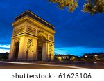 monument of arc de triomphe in...   Shutterstock . vector #61623106