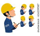 inspector are patrolling ...   Shutterstock .eps vector #616239587