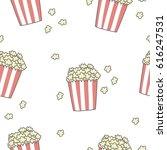funny print with pop corn. pop... | Shutterstock .eps vector #616247531