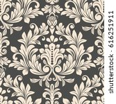 dark brown and beige vintage... | Shutterstock .eps vector #616251911