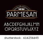 decorative sanserif font with... | Shutterstock .eps vector #616256645
