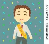best employee of the month of... | Shutterstock .eps vector #616257779
