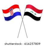 croatian and iraqi crossed...   Shutterstock .eps vector #616257809
