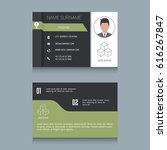 business card designs. easy to... | Shutterstock .eps vector #616267847