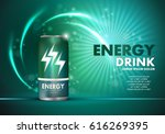 energy drink on sparkly and... | Shutterstock .eps vector #616269395