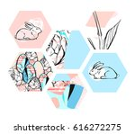 hand drawn vector abstract... | Shutterstock .eps vector #616272275