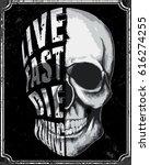 skull t shirt graphic design | Shutterstock .eps vector #616274255