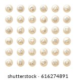 vector graphic set. icons in... | Shutterstock .eps vector #616274891