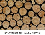 background of stacked wooden... | Shutterstock . vector #616275941