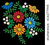 embroidery stitches imitation... | Shutterstock .eps vector #616277945