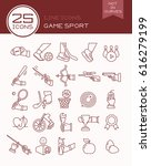 line icons game sport | Shutterstock .eps vector #616279199