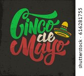 cinco de mayo. hand drawn... | Shutterstock .eps vector #616281755