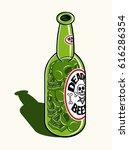 skull inside deadly beer... | Shutterstock .eps vector #616286354