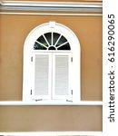 white antique window g | Shutterstock . vector #616290065