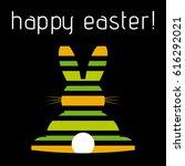 easter greeting card   green ... | Shutterstock .eps vector #616292021