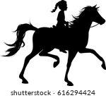 Little Girl Riding Horse...