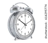 old style alarm clock isolated... | Shutterstock . vector #616295774