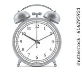old style alarm clock isolated... | Shutterstock . vector #616295921