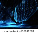 computer generated abstract... | Shutterstock . vector #616312031