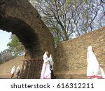 Small photo of GONDER, ETHIOPIA - MARCH 25: Unidentified Ethiopian women walk to church service during annual Abye Tsome (Great Fast) in Gonder, Ethiopia on March 25, 2012. White clothes mean fasting in Ethiopia.