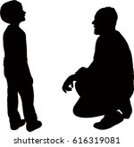 dad talk to his son gently ... | Shutterstock .eps vector #616319081
