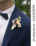 boutonniere on the jacket | Shutterstock . vector #616325099