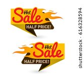 hot sale price offer deal... | Shutterstock .eps vector #616328594