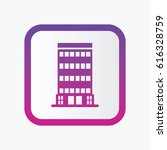 building icon. flat isolated... | Shutterstock .eps vector #616328759