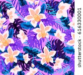 beautiful seamless pattern with ... | Shutterstock .eps vector #616330001