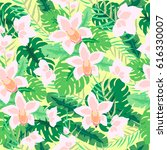 beautiful seamless pattern with ... | Shutterstock .eps vector #616330007