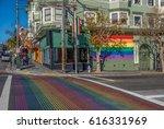castro district rainbow... | Shutterstock . vector #616331969