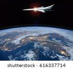 the concept of a futuristic... | Shutterstock . vector #616337714