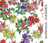 floral vintage seamless... | Shutterstock .eps vector #616362821